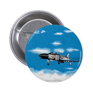 F4 Phantom  Navy Jet Fighter 2 Inch Round Button