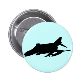 F4 Phantom Silhouette 2 Inch Round Button