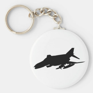 F4 Phantom Silhouette Basic Round Button Keychain