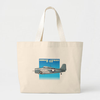 f4f wildcat side view large tote bag