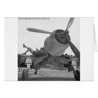 F4U CORSIAR ON BOUGAINVILLE CARD