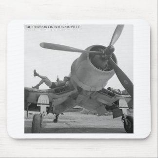 F4U CORSIAR ON BOUGAINVILLE MOUSE PAD