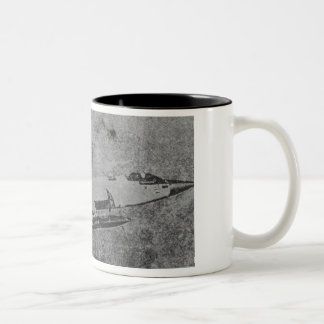 F-104 Starfighter fighter jet old photo Two-Tone Coffee Mug