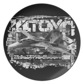 F-14 Tomcat Melamine Plate Melamine Plate