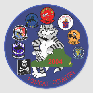 F-14 Tomcat Round Sticker