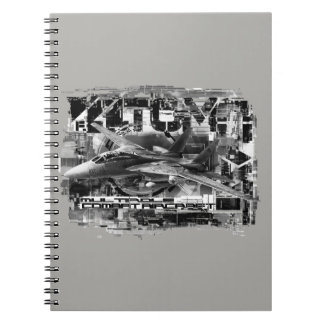 F-14 Tomcat Spiral Photo Notebook