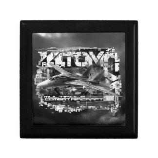 F-14 Tomcat Wooden Jewelry Keepsake Box