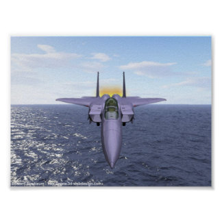 F-15 Flies over the Pacific Poster