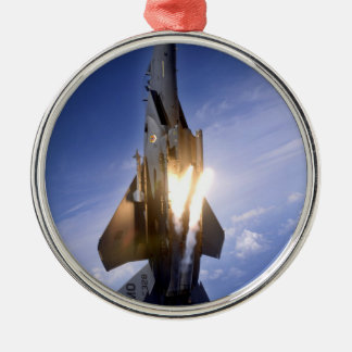 f-15 jet launching missile metal ornament