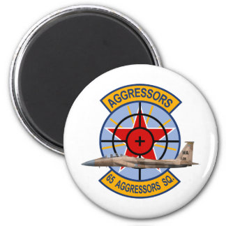 F-15 Strike Eagles 65th Aggressors Squadron 2 Inch Round Magnet