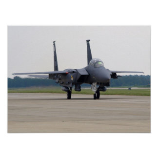 F-15E from Seymour Johnson AFB at Shaw AFB, SC. Poster