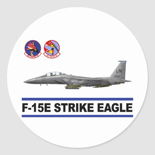 F-15E Strike Eagle 492nd Fighter Squadron Classic Round Sticker
