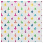 F-15E Strike Eagle Fighter Jets Pattern - Rainbow Fabric