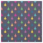 F-15E Strike Eagle Fighter Jets Pattern Rainbow Fabric