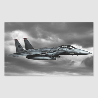 F-15E Strike Eagle  Rectangle Stickers