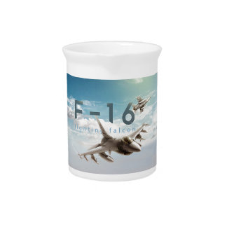F-16 Fighting Falcon Beverage Pitcher
