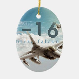 F-16 Fighting Falcon Ceramic Oval Ornament