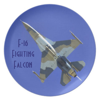 F-16 Fighting Falcon Electric Jet or Dedication Dinner Plates