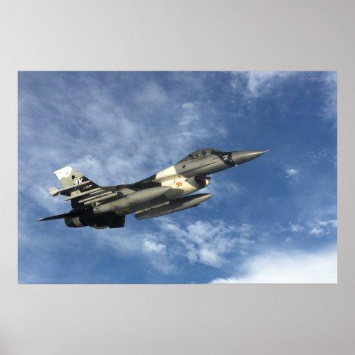 F-16 Fighting Falcon in Flight Poster
