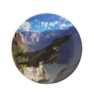 F-16 Fighting Falcon Porcelain Plates