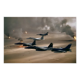F-16 Fighting Falcons and  F-15 Eagles Poster