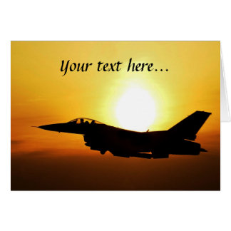 F-16 Greeting Card