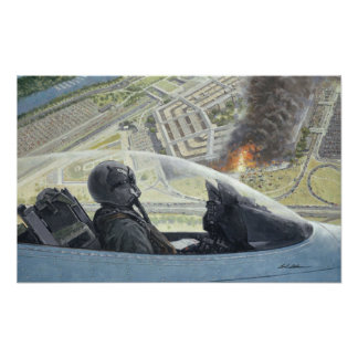 "F-16 Over Pentagon 9/11 poster 14""x22"""