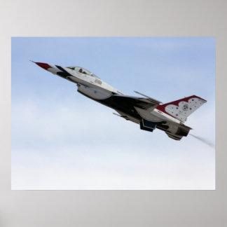 F-16 Thunderbird In Flight Poster