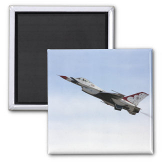 F-16 Thunderbird In Flight Square Magnet