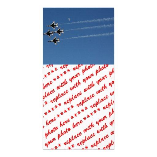 F-16 Thunderbirds Diamond  Formation Photo Card Template