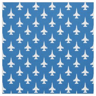 F-16 Viper Fighter Jet Pattern White Fabric