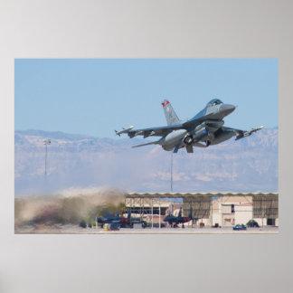 F-16C Fighting Falcon HL AF 89 149 Take Off Poster