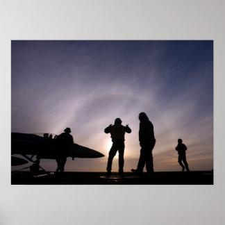 F-18 Ground Crew Poster