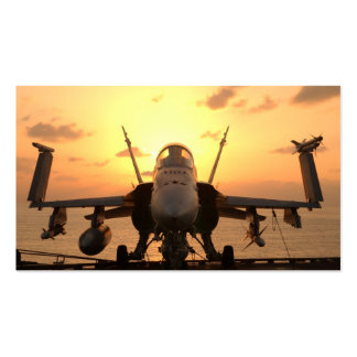 F-18 Hornet at sea aboard US Aircraft Carrier Pack Of Standard Business Cards
