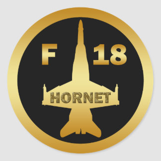 F-18 HORNET CLASSIC ROUND STICKER
