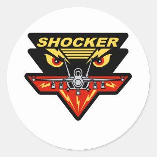 F-18 Hornet Shocker Classic Round Sticker