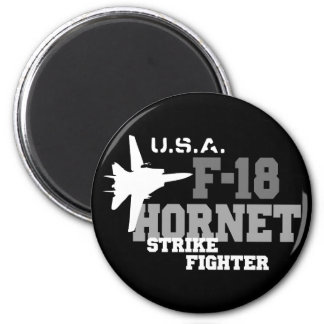 F-18 Hornet - Strike Fighter 2 Inch Round Magnet