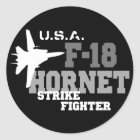 F-18 Hornet - Strike Fighter Classic Round Sticker