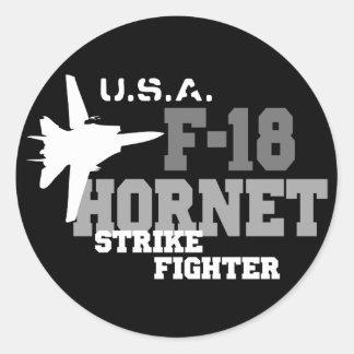 F-18 Hornet - Strike Fighter Classic Round Sticker