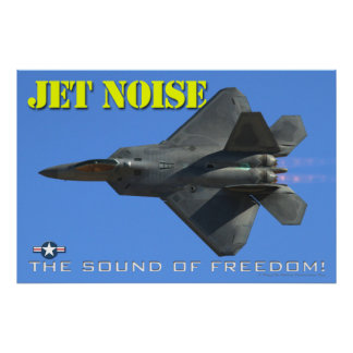 F-22 Jet Noise Poster