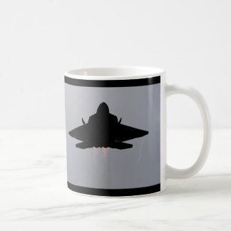 F-22 LEAVING GUAM BASIC WHITE MUG