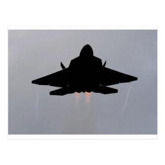 F-22 LEAVING GUAM POSTCARD