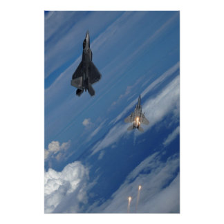 F-22 Raptor and F-15 Eagle Poster