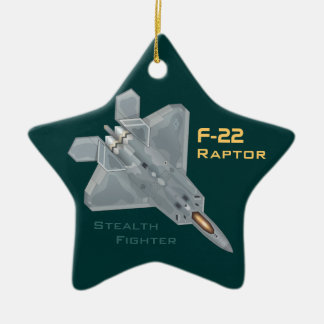F-22 Raptor Ceramic Star Ornament