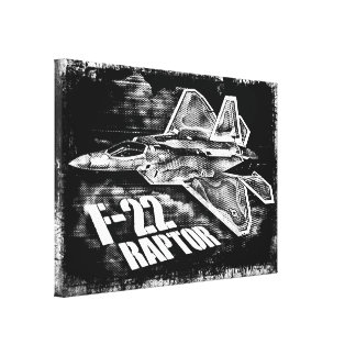 F-22 RAPTOR NULL CANVAS PRINT