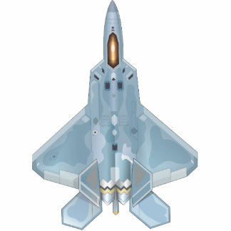 F-22 RAPTOR ORNAMENT PHOTO SCULPTURE ORNAMENT