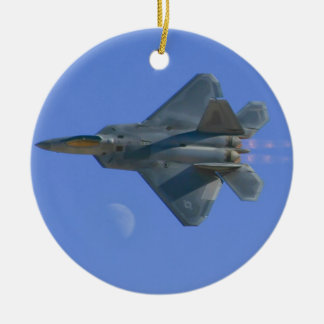 F-22 Raptor Over Moon Ornament