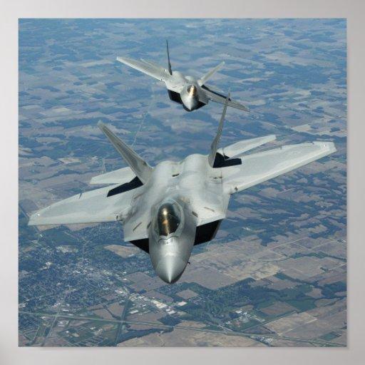 F-22 Raptors Posters