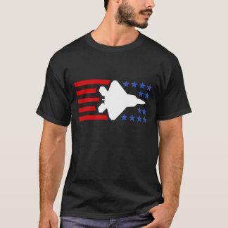 F-35 Lightning 2 Fighter Jet Stars and Stripes T-Shirt