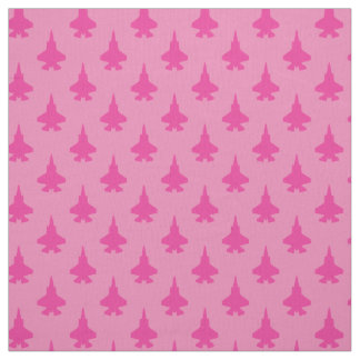 F-35 Lightning 2 Fighter Jets Pattern Girly Pink Fabric